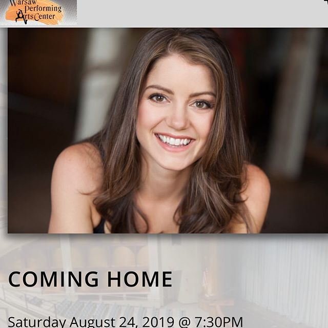 Attention Warsaw area residents!  See me in 'Coming Home,' a benefit concert @warsawperformingartscenter August 24, 7:30pm. *VIP after party details to follow.  Tickets on sale now via link or (beginning July 29) by phone 574-371-5040. Link in Bio . . . #allthingsnew #cominghome #benefitconcert #warsawindiana #wchstheatre #winonalake #silverlakeindiana #indianagirl #nycactor #actor #singer #producer #makeyourownwork #actorlife #allthehashtags