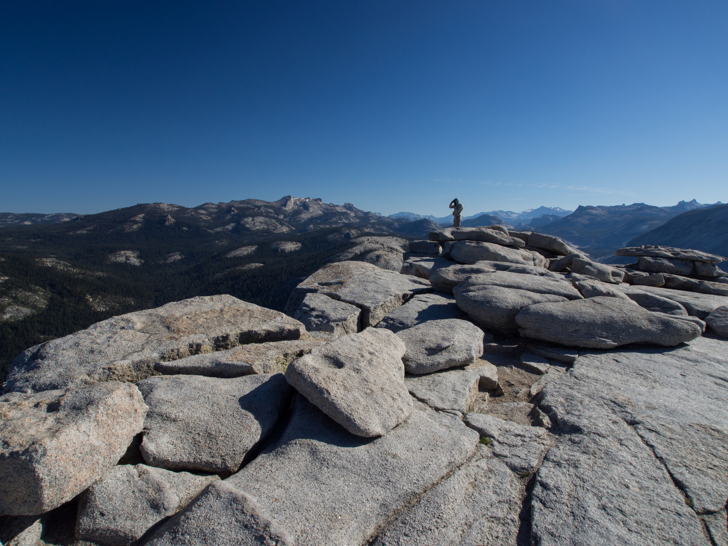The summit of Half Dome