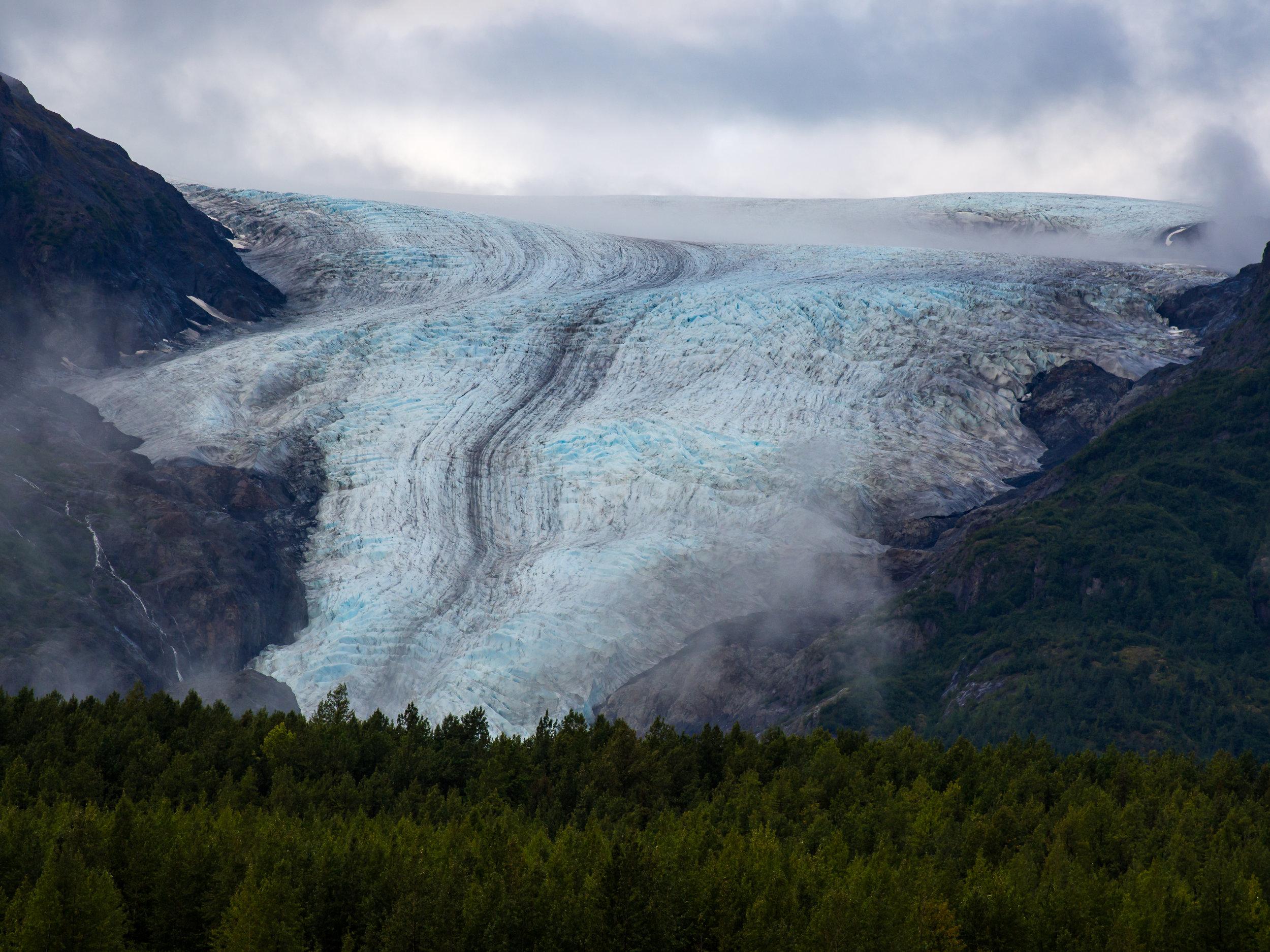 Exit Glacier, seen from Glacier Road