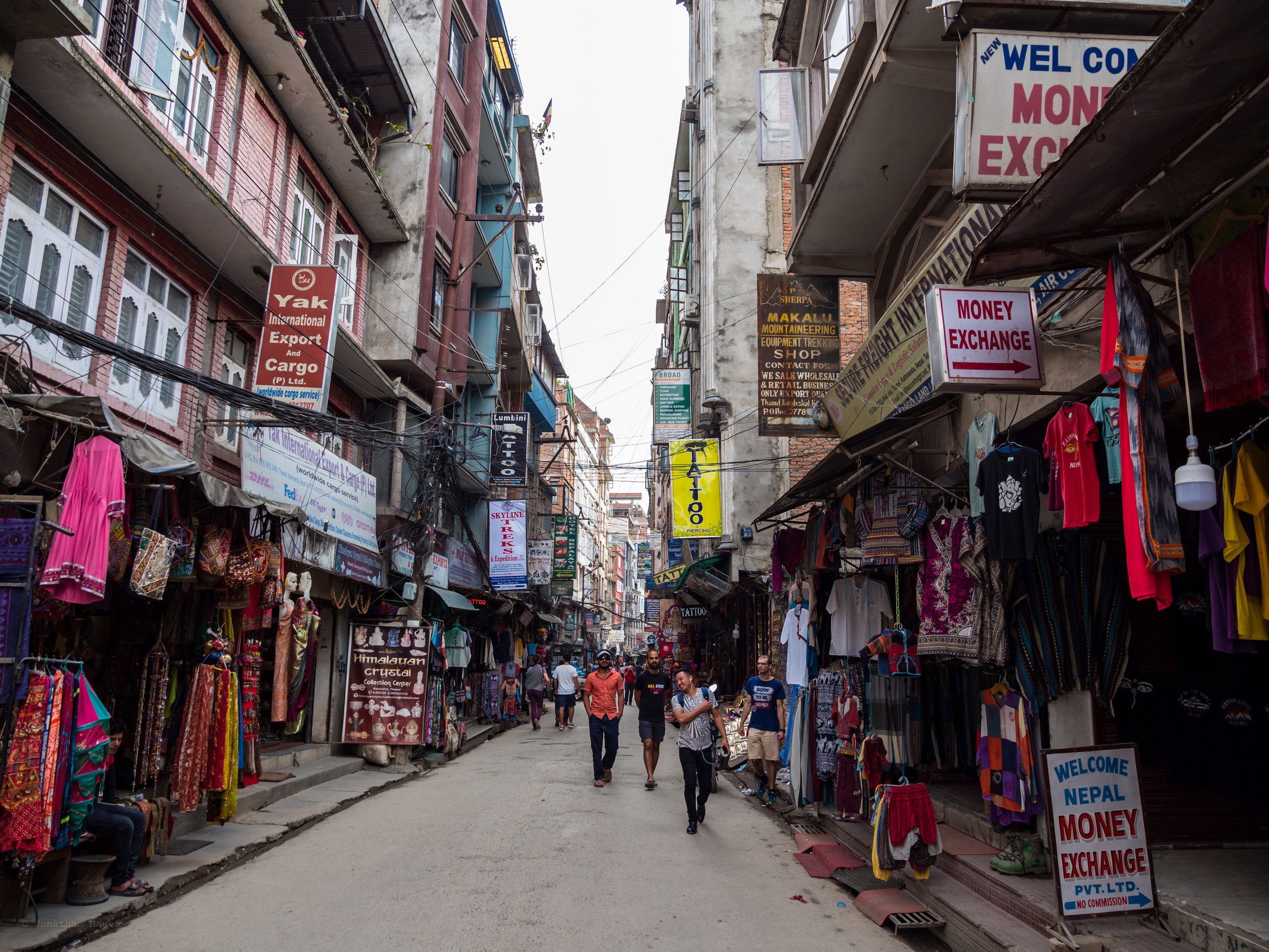 A typical street in Thamel.