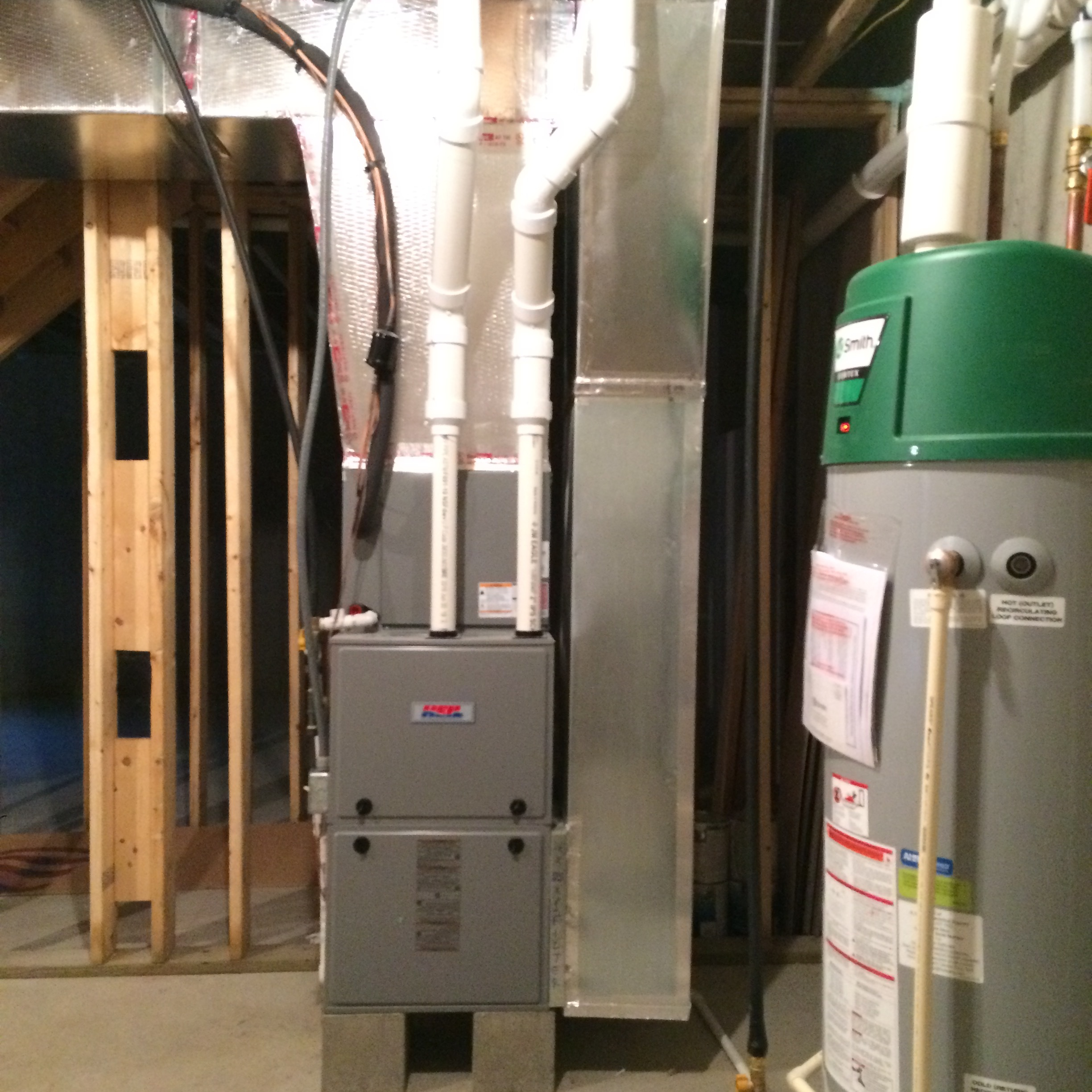 High Efficiency Furnace and Water Heater - These systems are 96% efficient