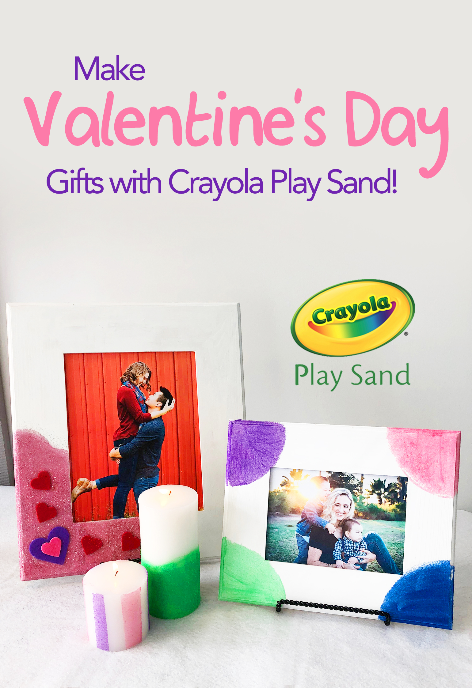 Crayola play sand valentine craft header