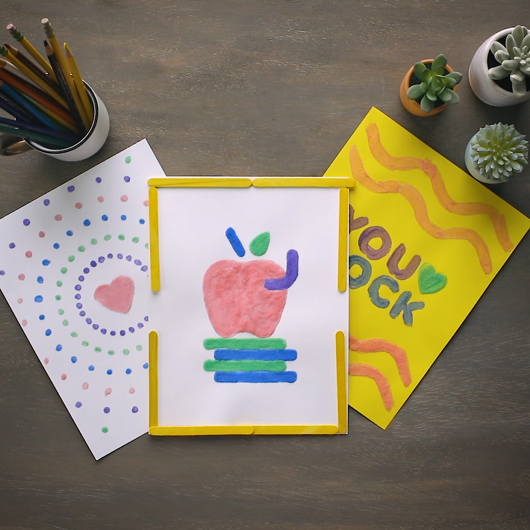 Thank you cards for kids to make with sand