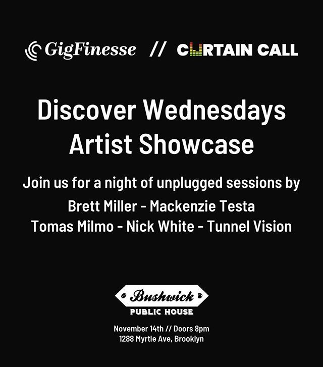 cohosting a casual wednesday night acoustic discover session next week // come hang w us and check out some new artists with ~no cover~ . . . #livemusic #livemusicnyc #nocover #discover #concerts #industry