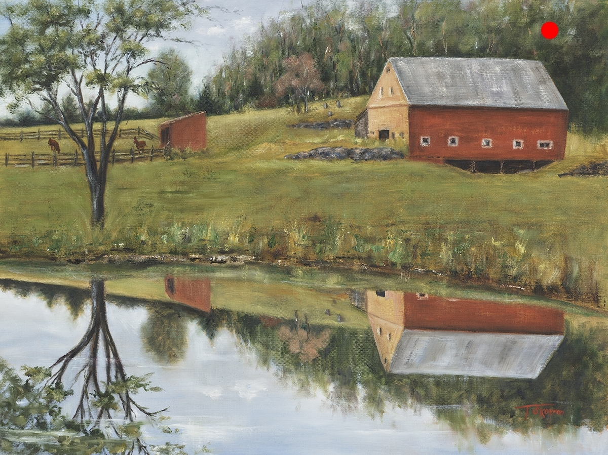 "Copy of Copy of Hilton Farm - Newmarket, NH, 18"" x 24""  Oil on linen panel"