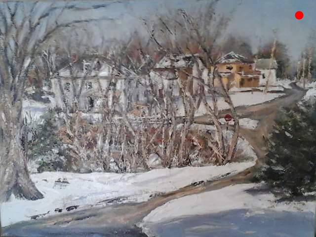 Copy of Copy of First Snowfall - North View of Rowe's Corner Newton, NH