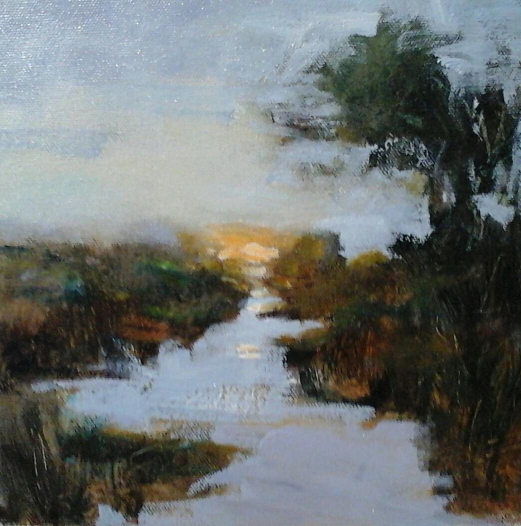 "Twilight  8"" x 8"" oil on canvas panel"