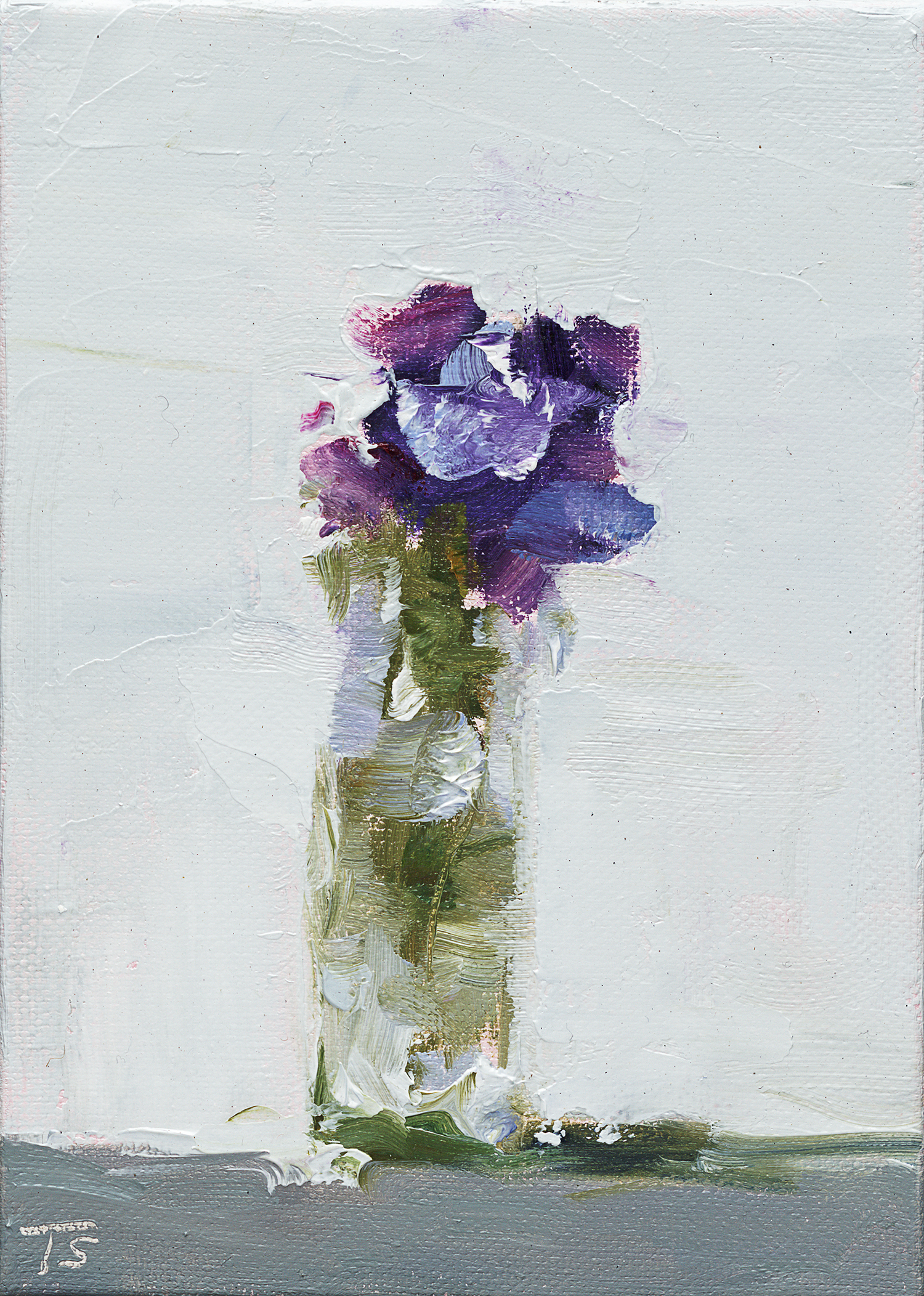 "Violas - 5"" x 7"" x .75"" oil on wrapped canvas"