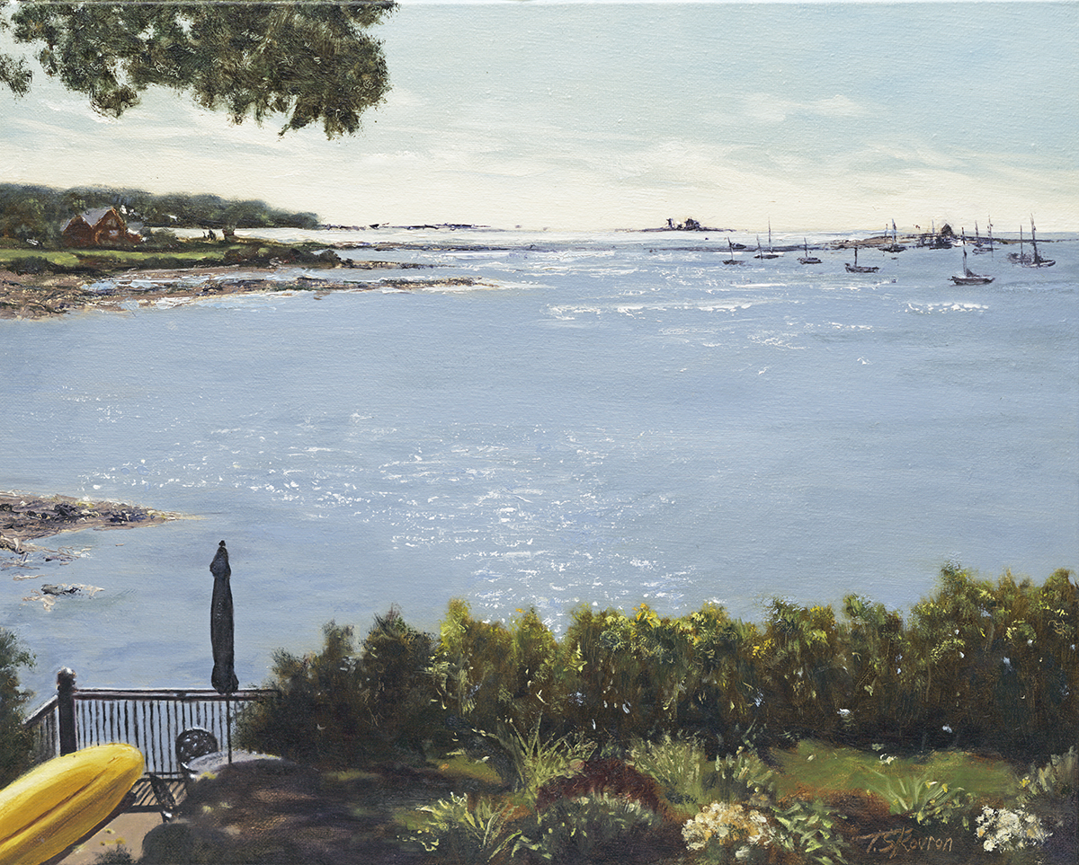 """Pepperell Cove - Kittery, Maine  16"""" x 20"""" oil on linen canvas"""
