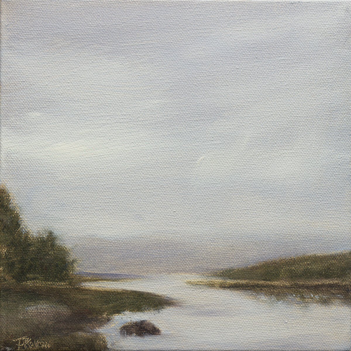 """""""Morning Whisper II"""" 8"""" x 8"""" x 1.5""""D oil on wrapped canvas"""