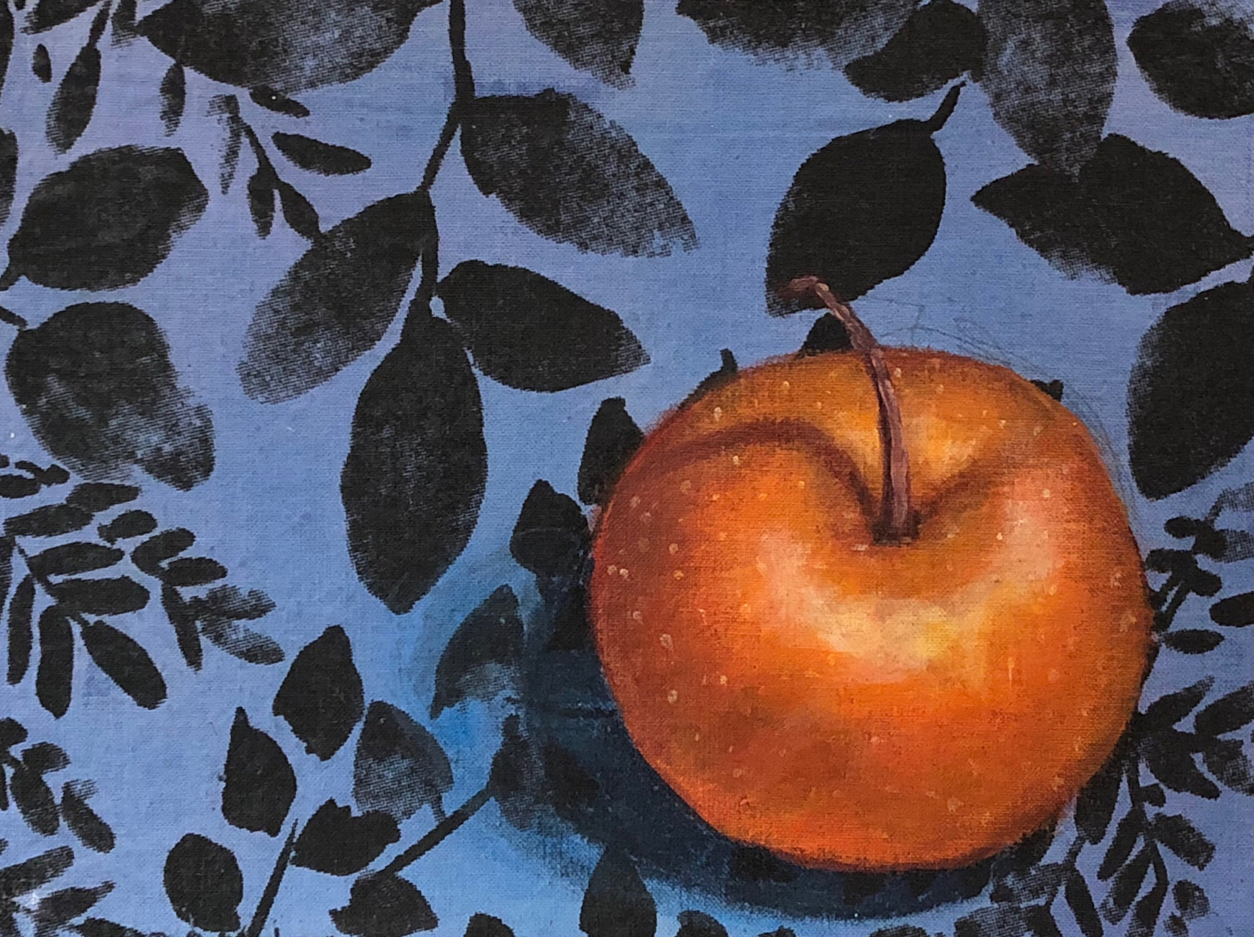 Asian Pear on Fabric