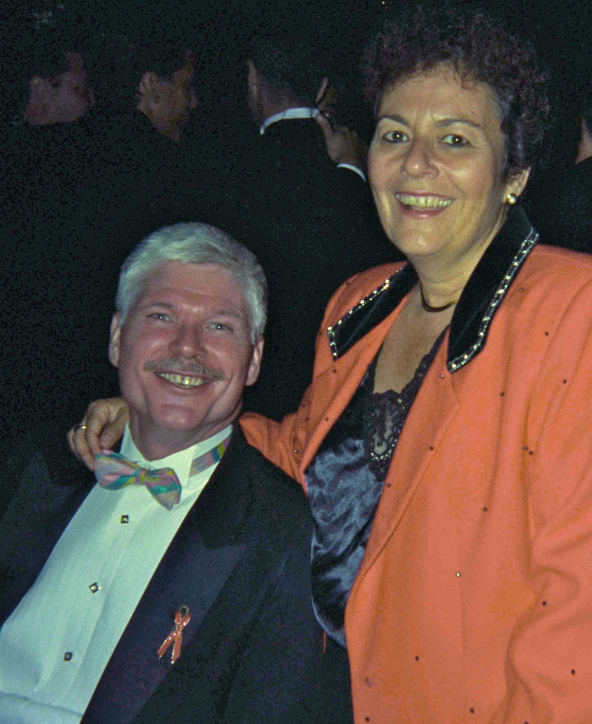Principal founder of Black Tie Dinner, John Thomas, with close friend Vivian Shapiro of New York