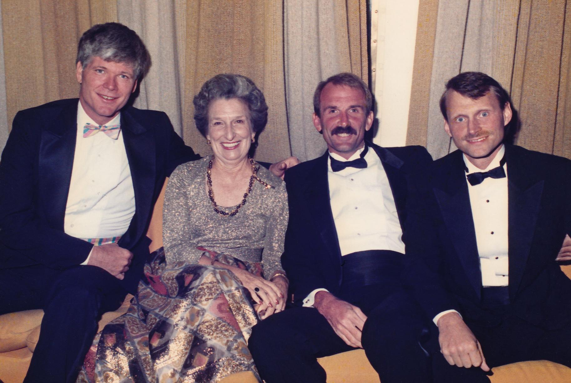 [Left to right] John Thomas, Jean Nelson (Bill's mother), Bill Nelson, Terry Tebedo