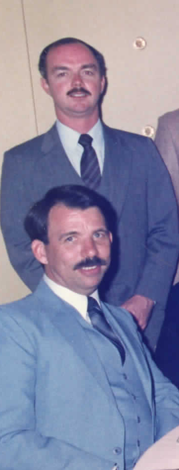 Joe Desmond (in back) and Ken Flanagan