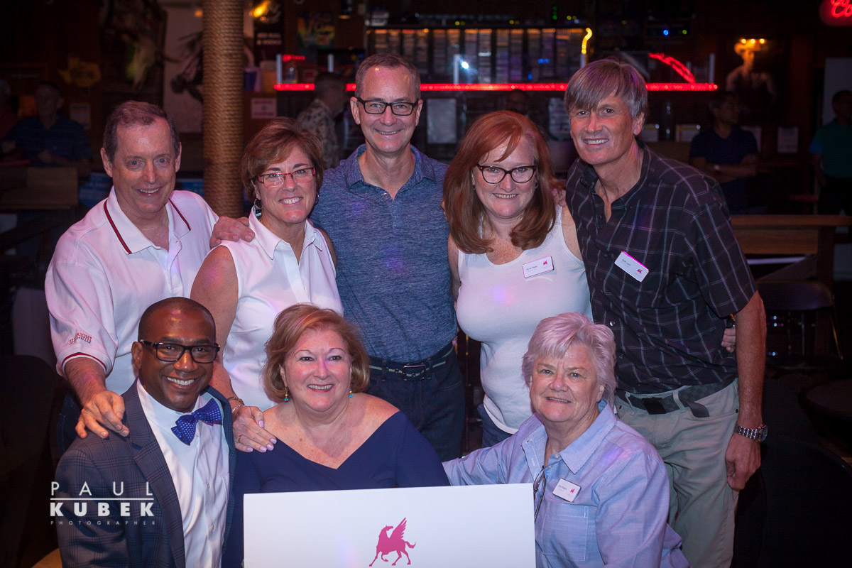 Board members of The Dallas Way: (front row left to right) Terry Loftis, Kay Wilkinson, Pridge Pridgeon, (back row) Mike Anglin, Sherry Briggs, Steve Atkinson, De'An Olson and Kyle Lunn