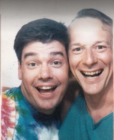 Daryl (left) with friend David McKeown in 1979