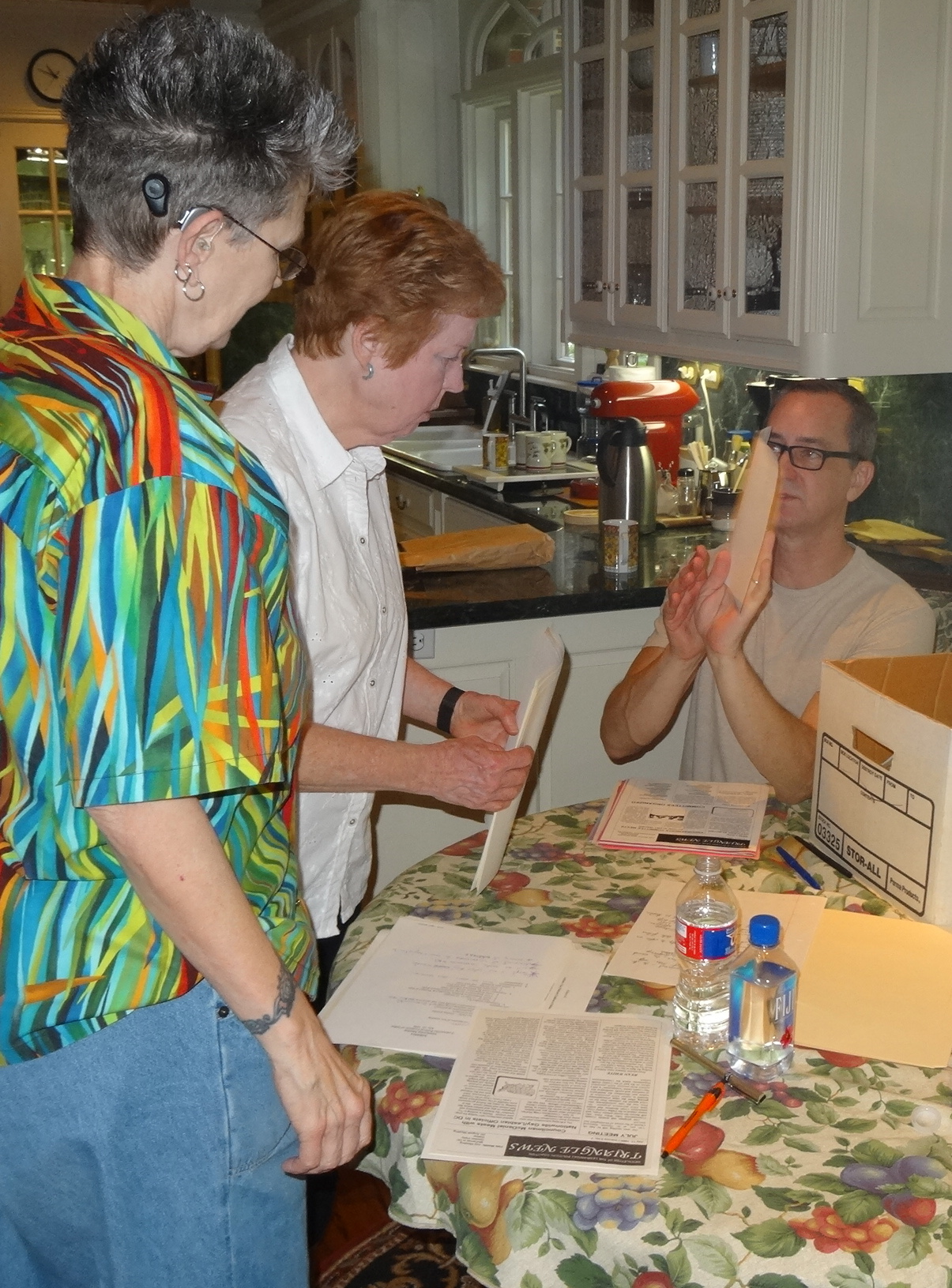 Beloved GLBT activist leaders, Louise Young and Viv Armstrong,curate documents donated to The Dallas Way.