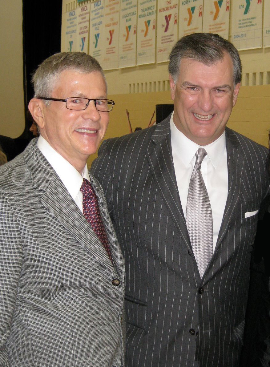 Larry Pease (left) with Dallas Mayor Mike Rawlings