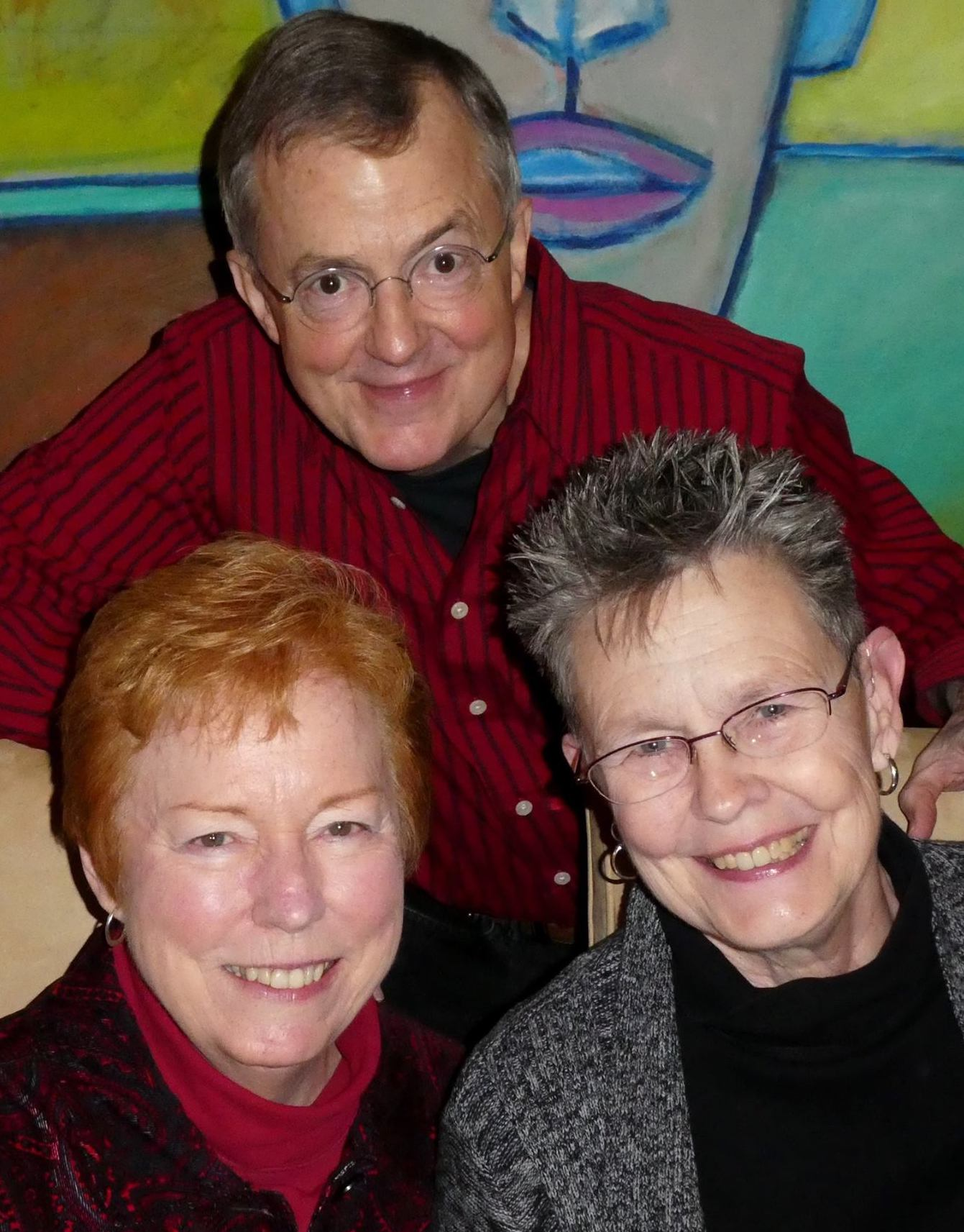 Viv & Louise with old comrade: Dick Peeples