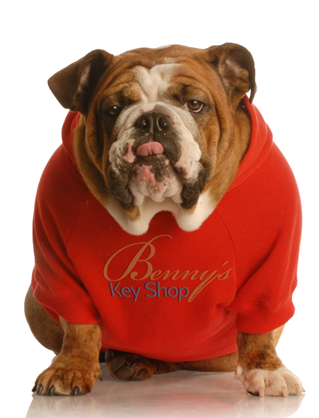 Benny the Bulldog wants you to be safe and secure.