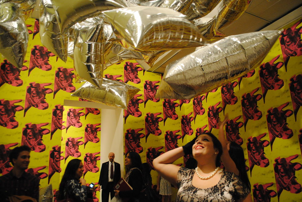 KEEP IT UP with Silver Balloons in Cow Paper , taken during the Warhol Factory Party, Metropolitan Museum of Art NYC , Spring 2013