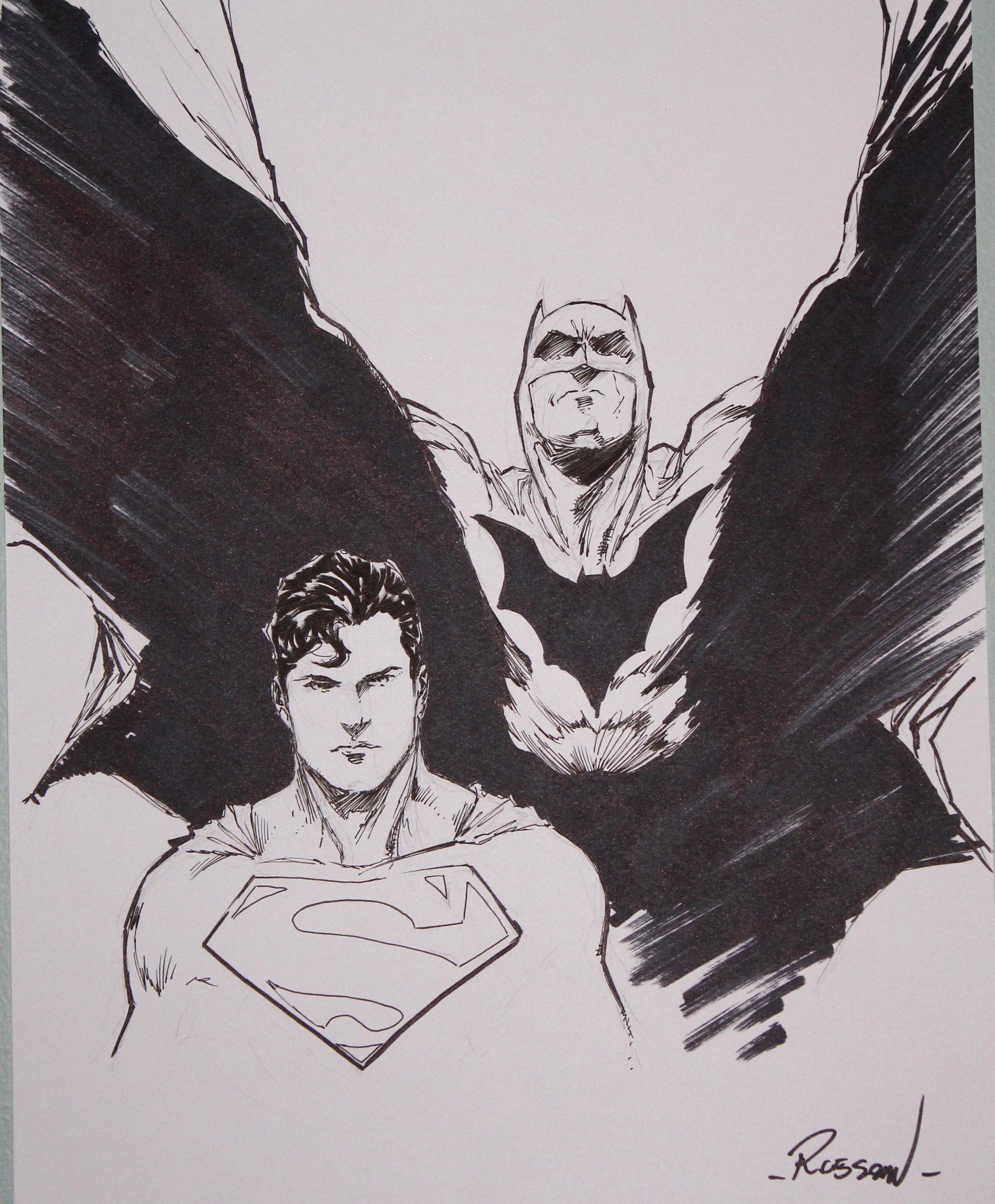 Superman and Batman by Robson Rocha