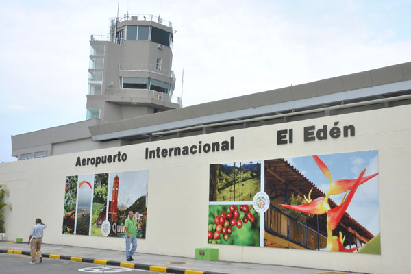 The front of El Eden International Airport, Armenia, Colombia.