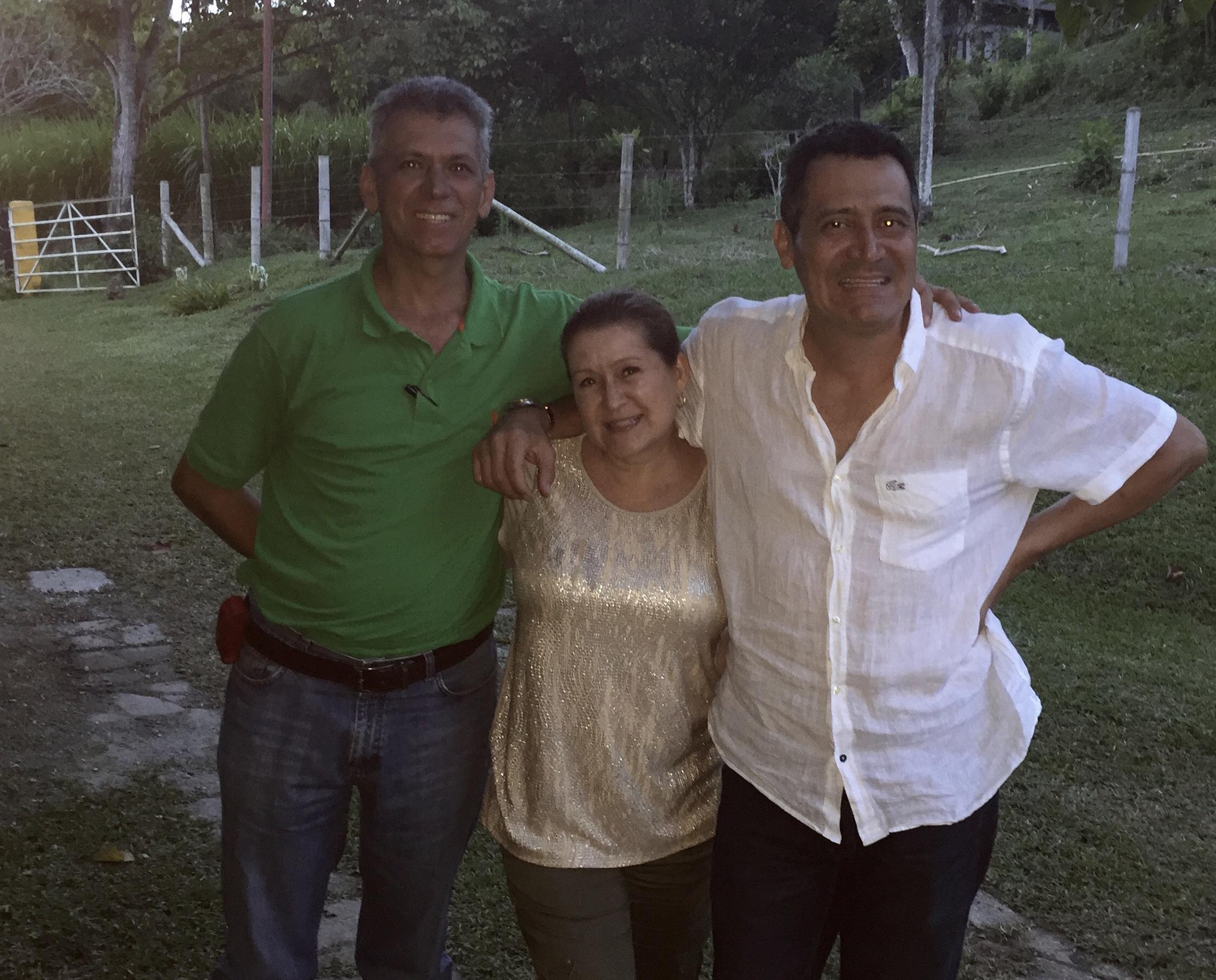 Jaqueline with Tio Ruben and Tio John Jairo.