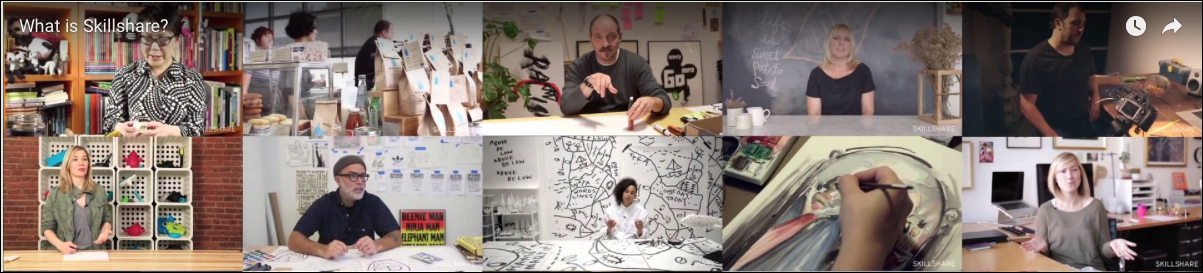Photo collage of Skillshare instructors who develop and teach over 10,000 based courses now available to members. (Photo courtesy Skillshare.com)