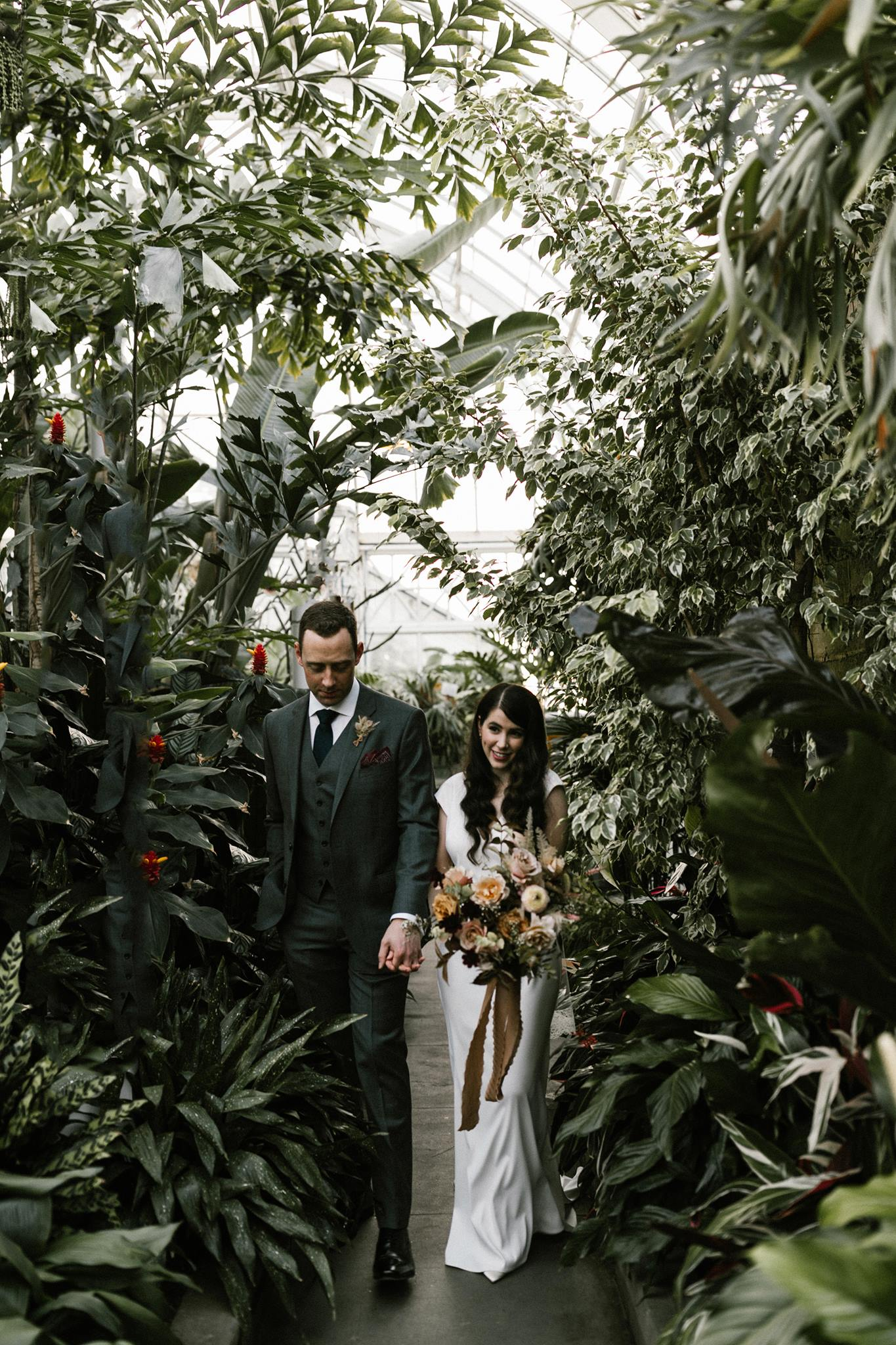 Seattle Washington Volunteer Park Conservatory Intimate Wedding - Portland Oregon Wedding and Elopement Photographer