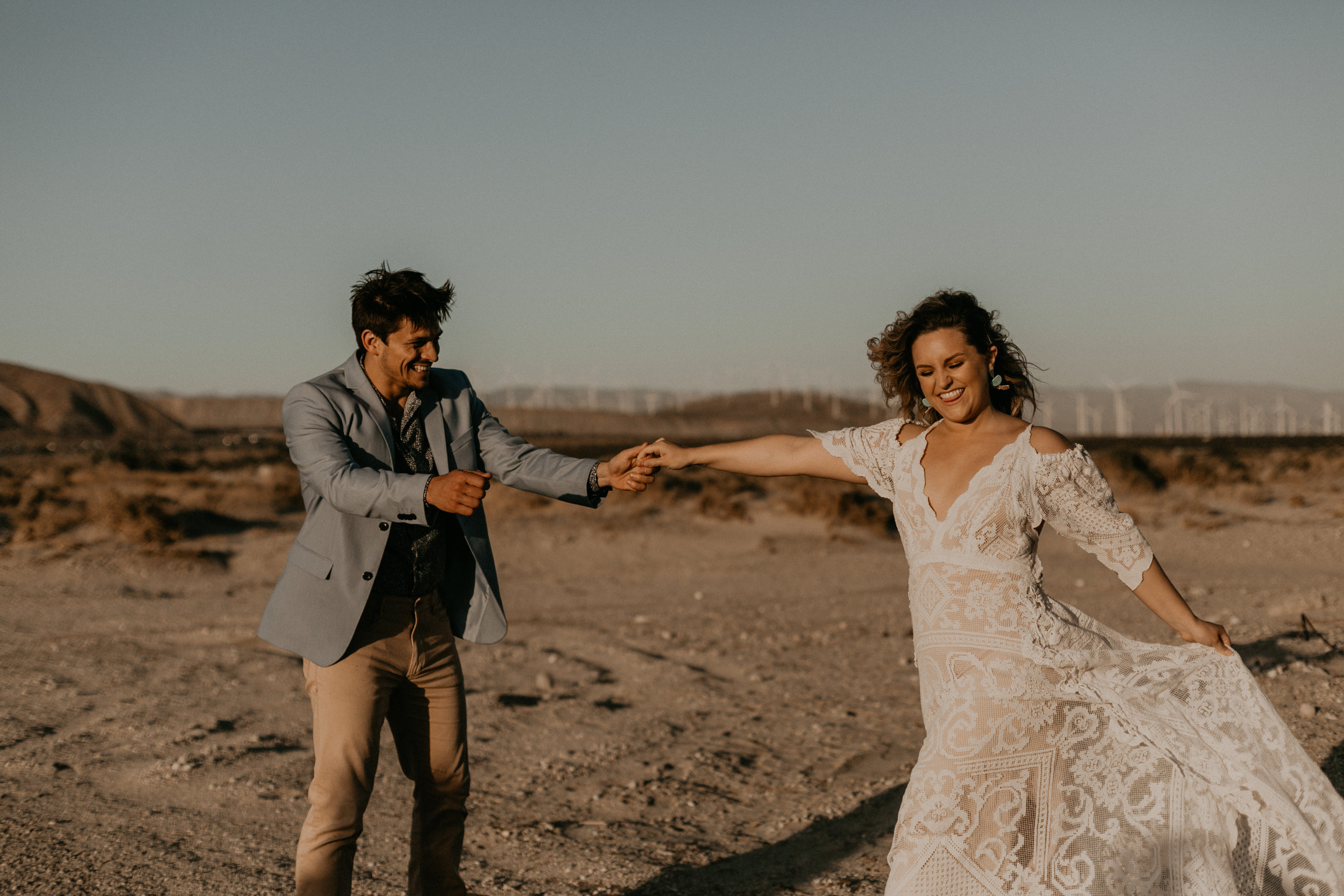 Palm Springs Boho Desert Elopement - Portland Oregon Wedding and Elopement Photographer
