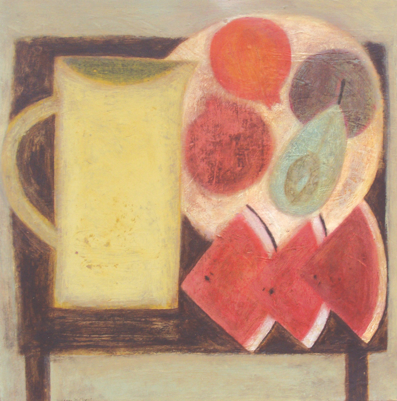 Jug with Watermelon and Fruit, 40.5cm x 40cm, 2010