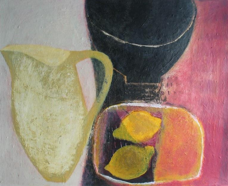 Jug with Black Bowl and Lemons, 41cm x 51cm, 2004