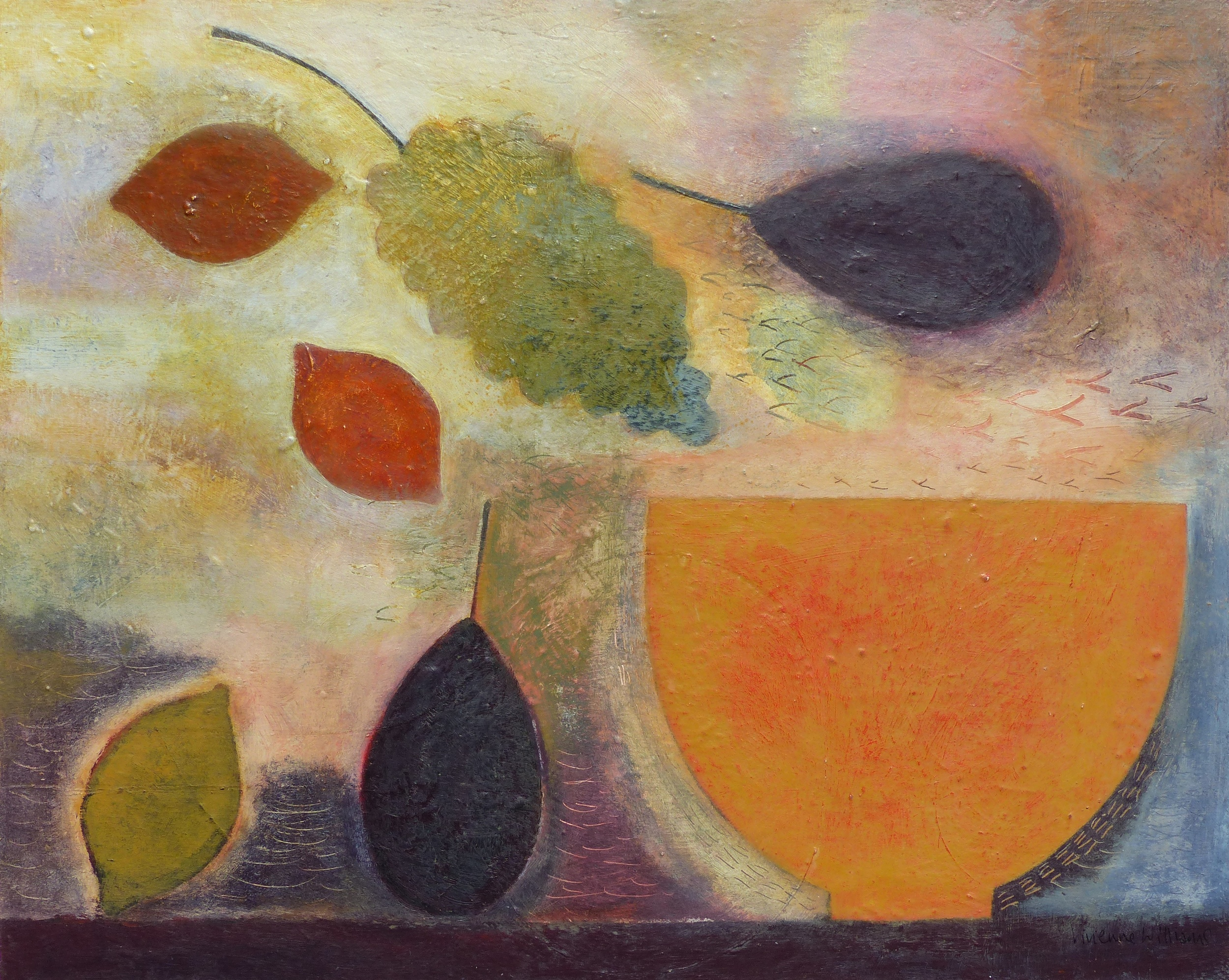 Still Life with Fruit and Bowl, 41cm x 51cm, 2015