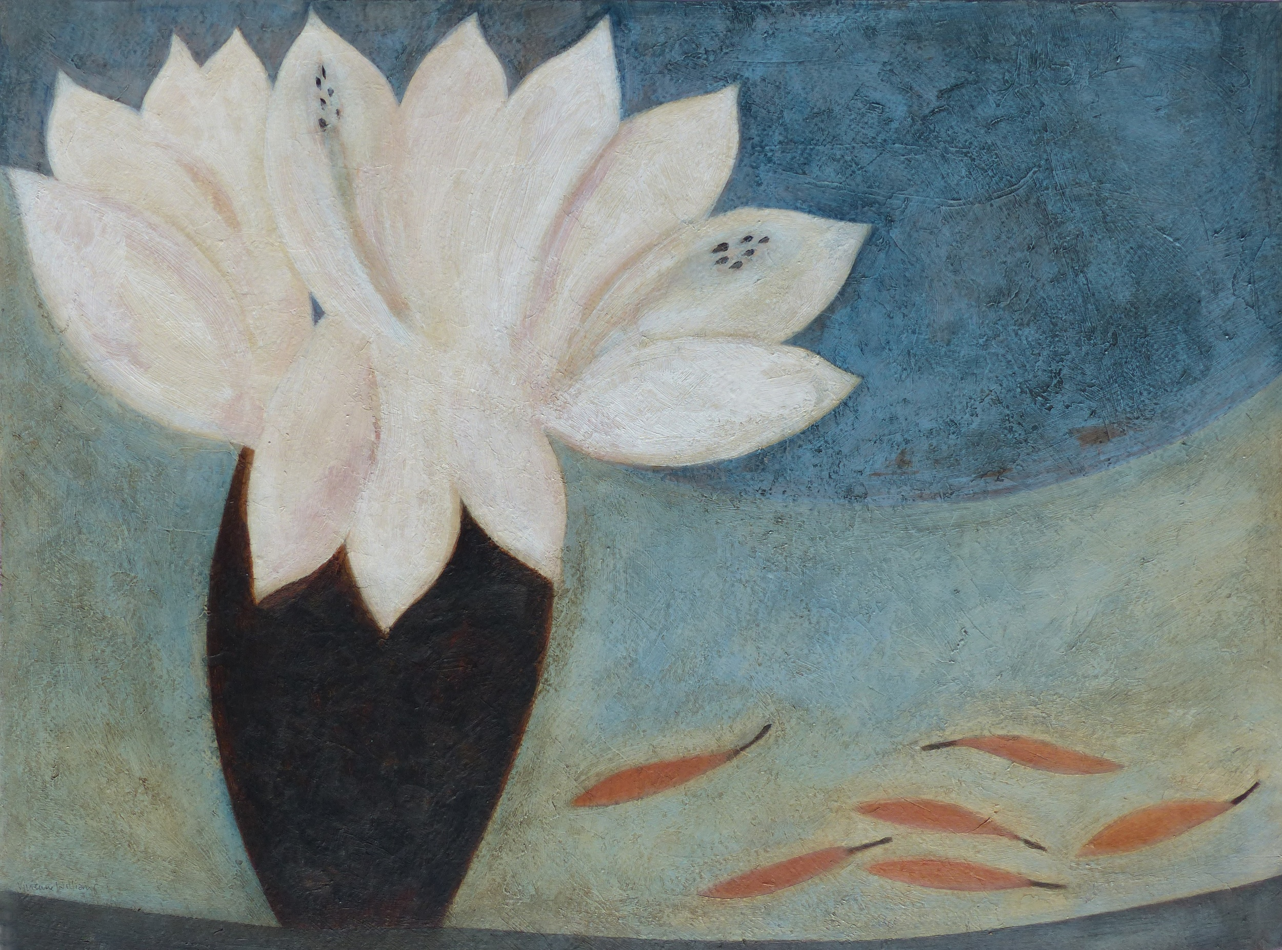 Lilies and Chillies, 46cm x 61cm, 2015