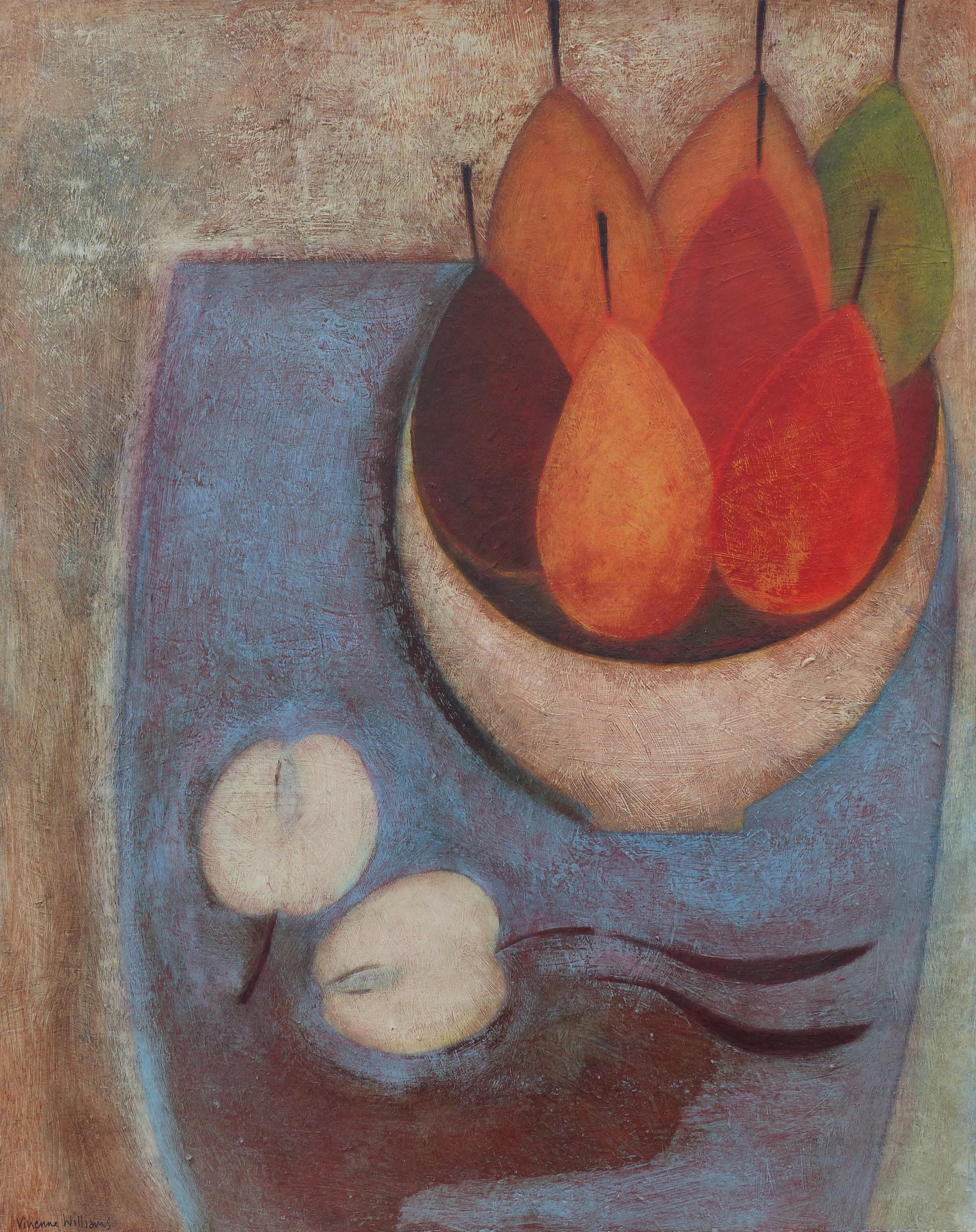 Still Life with Seven Pears, 51cm x 41cm, 2014