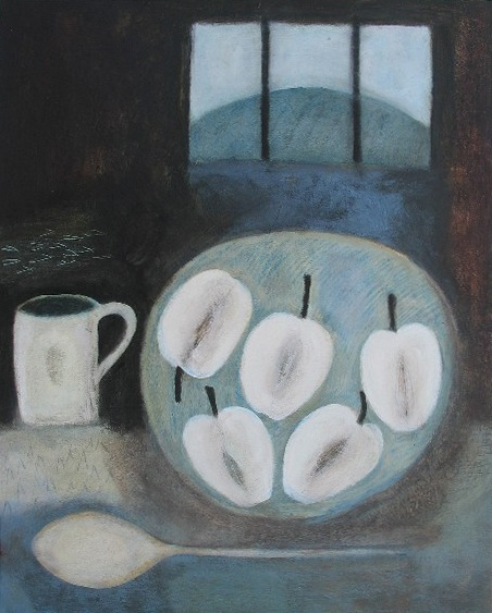 Still Life with Apples and Hillside, 51cm x 41cm, 2008