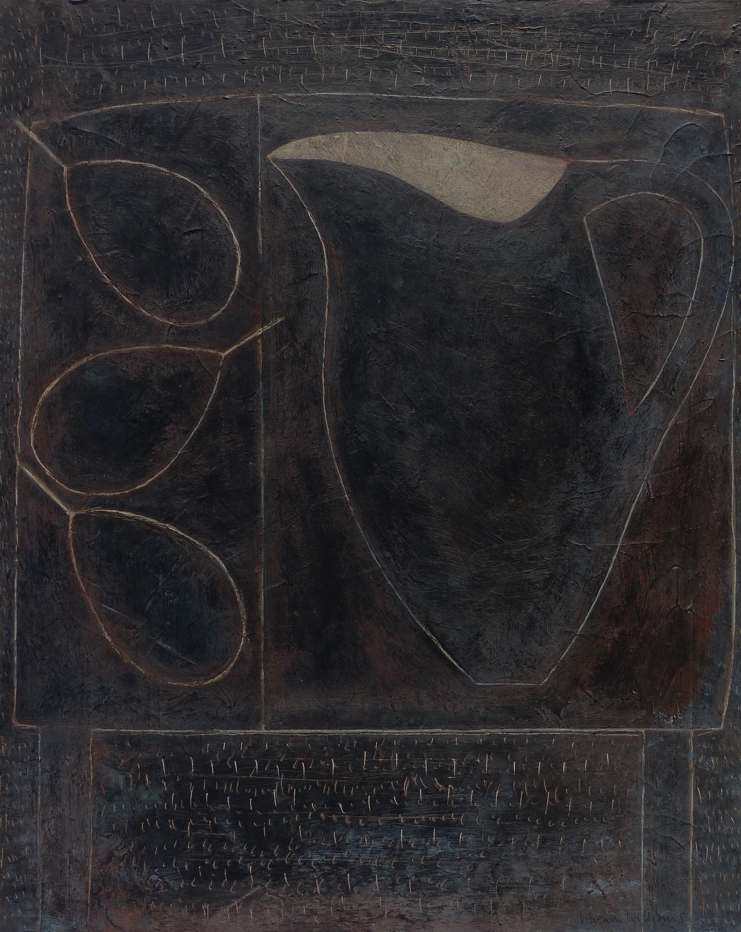Blackboard Jug and Pears, 51cm x 41cm, 2018