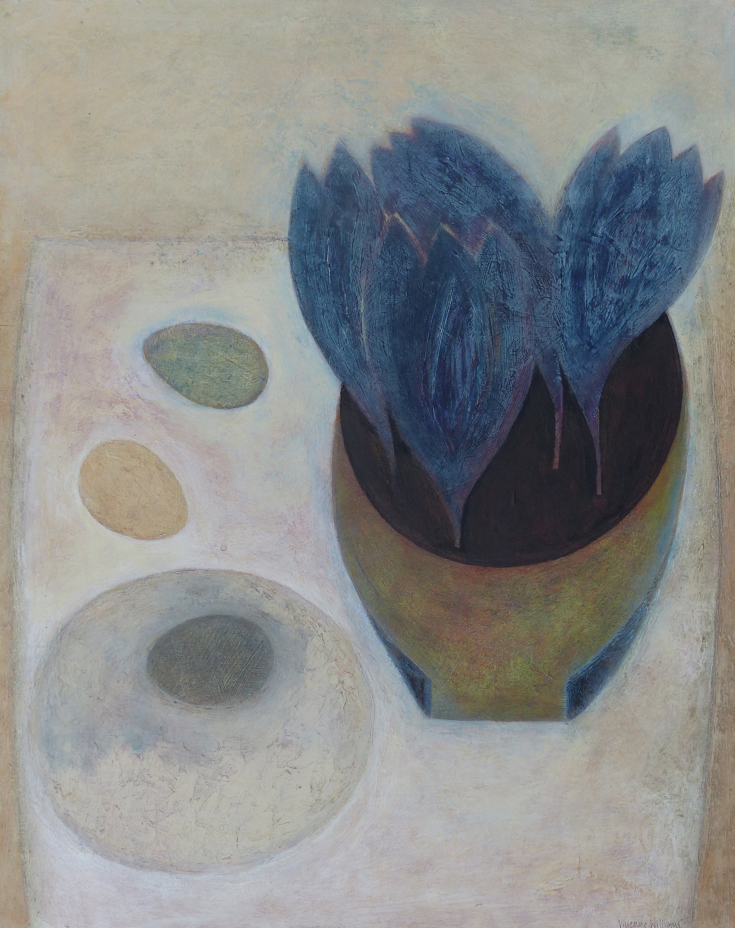 Blue Crocus with Three Eggs, 51cm x 41cm, 2016