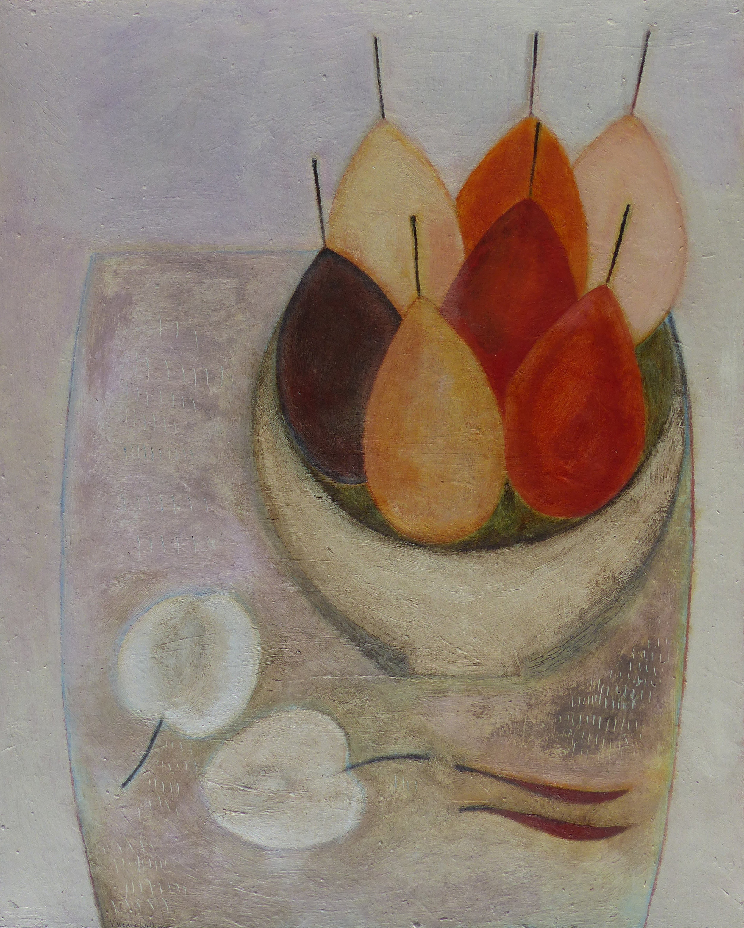 Pears, Apples and Chillies, 51cm x 41cm, 2017