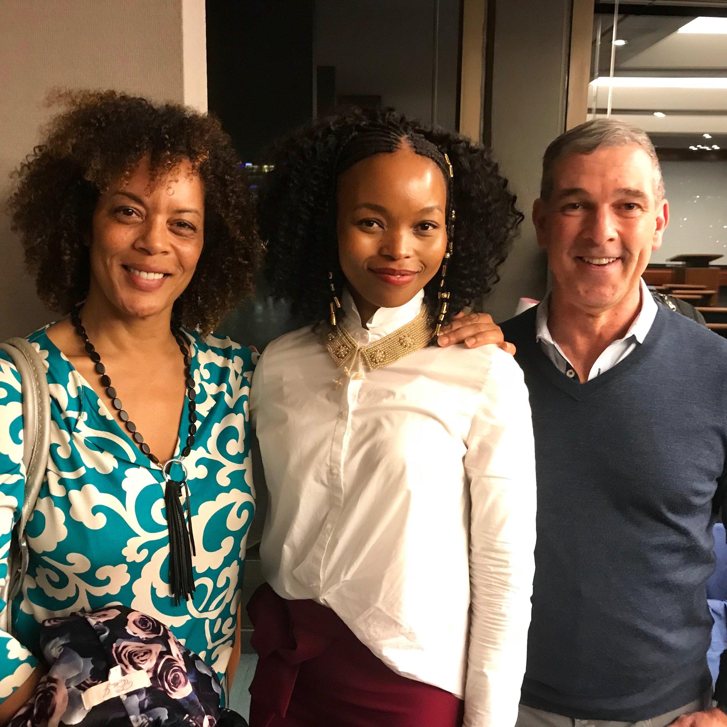 With Aminata Forna & Prof. Rodriguez