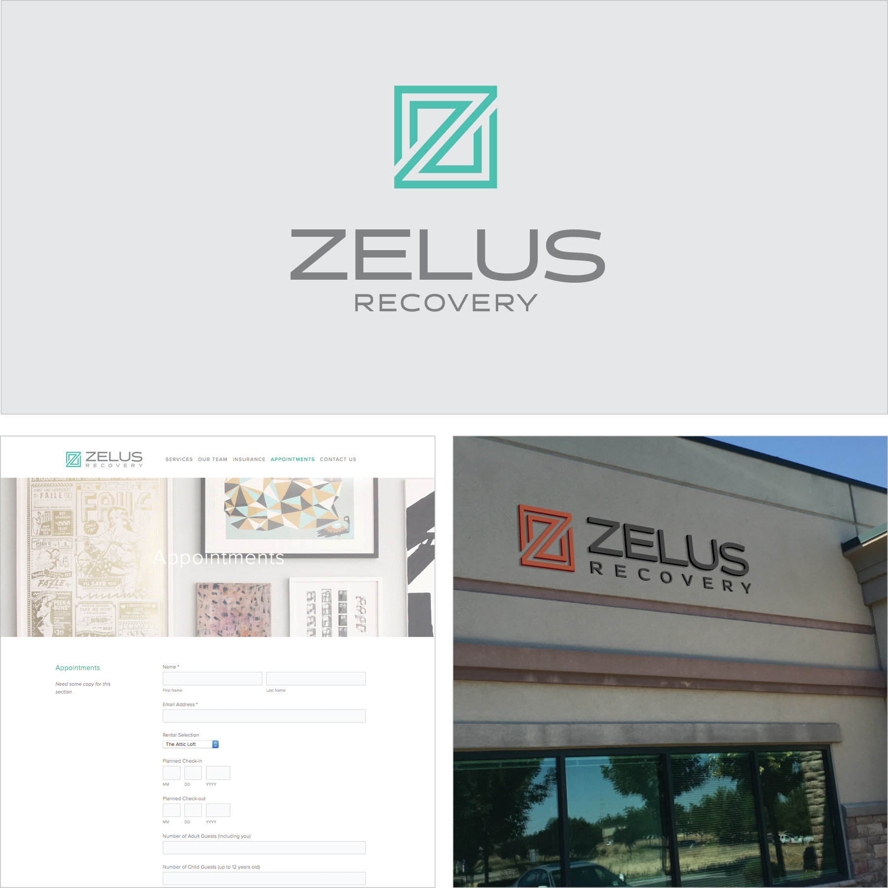 Zelus Recovery - Zelus Recovery, a new Boise-based treatment center, needed branding elements for their business launch: a logo, print materials, a website, outdoor signage, and a website. Kampfire Media worked with the founder to help define their unique story. We then created engaging, quality pieces that intertwined their custom messaging to create specialized, professional brand guidelines and all the pieces needed to successfully launch the business.