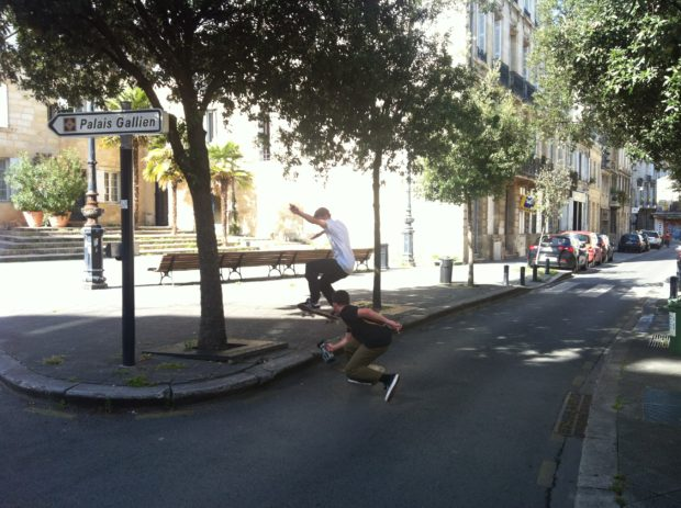 Gaetan Salvignol and Josh busy in those Bordeaux streets.