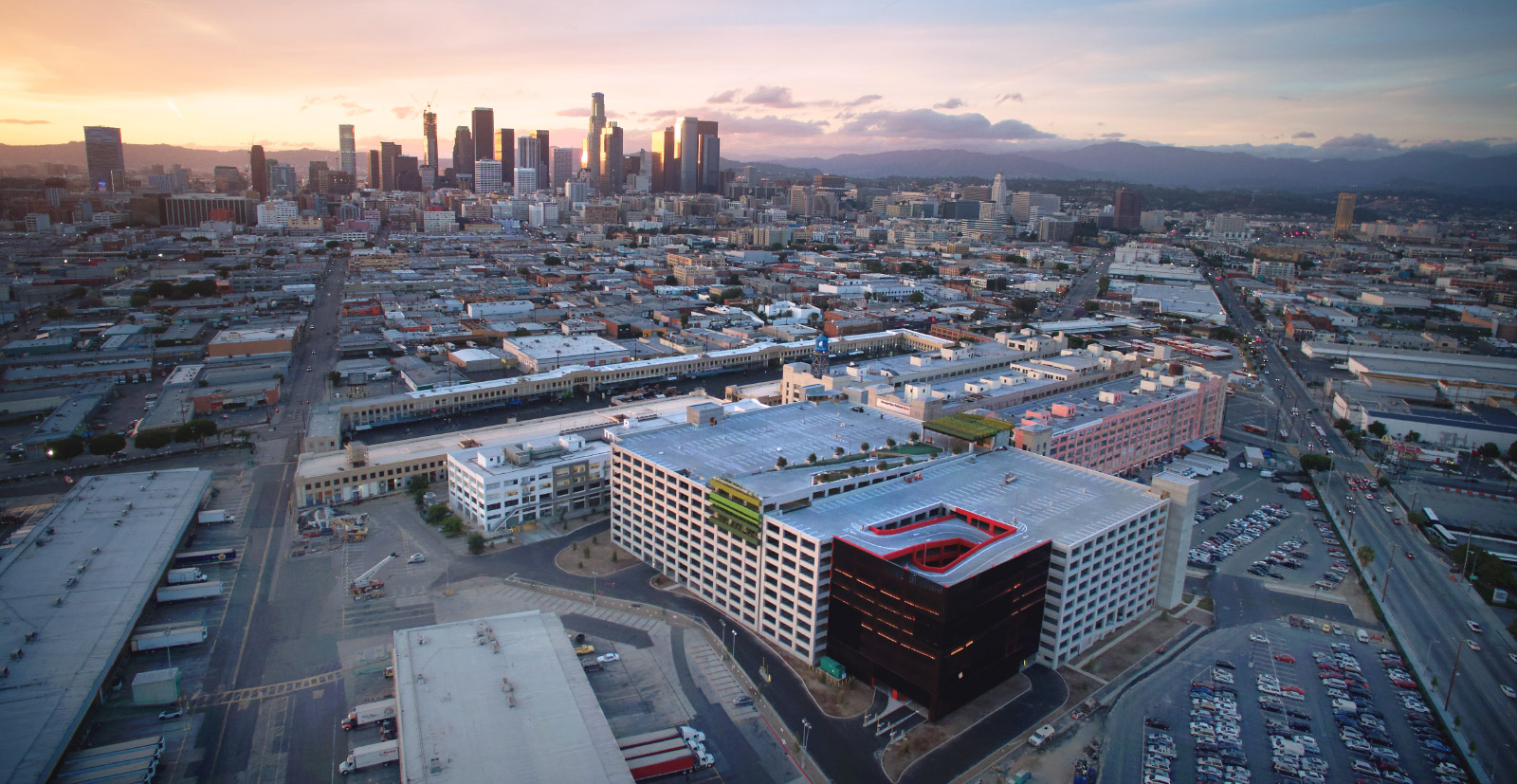 Aerial View of Row DTLA