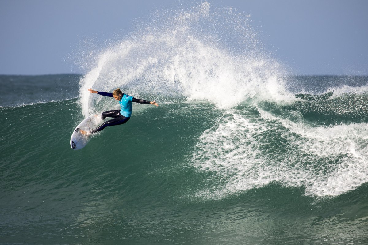 Steph knows how to win at J-Bay