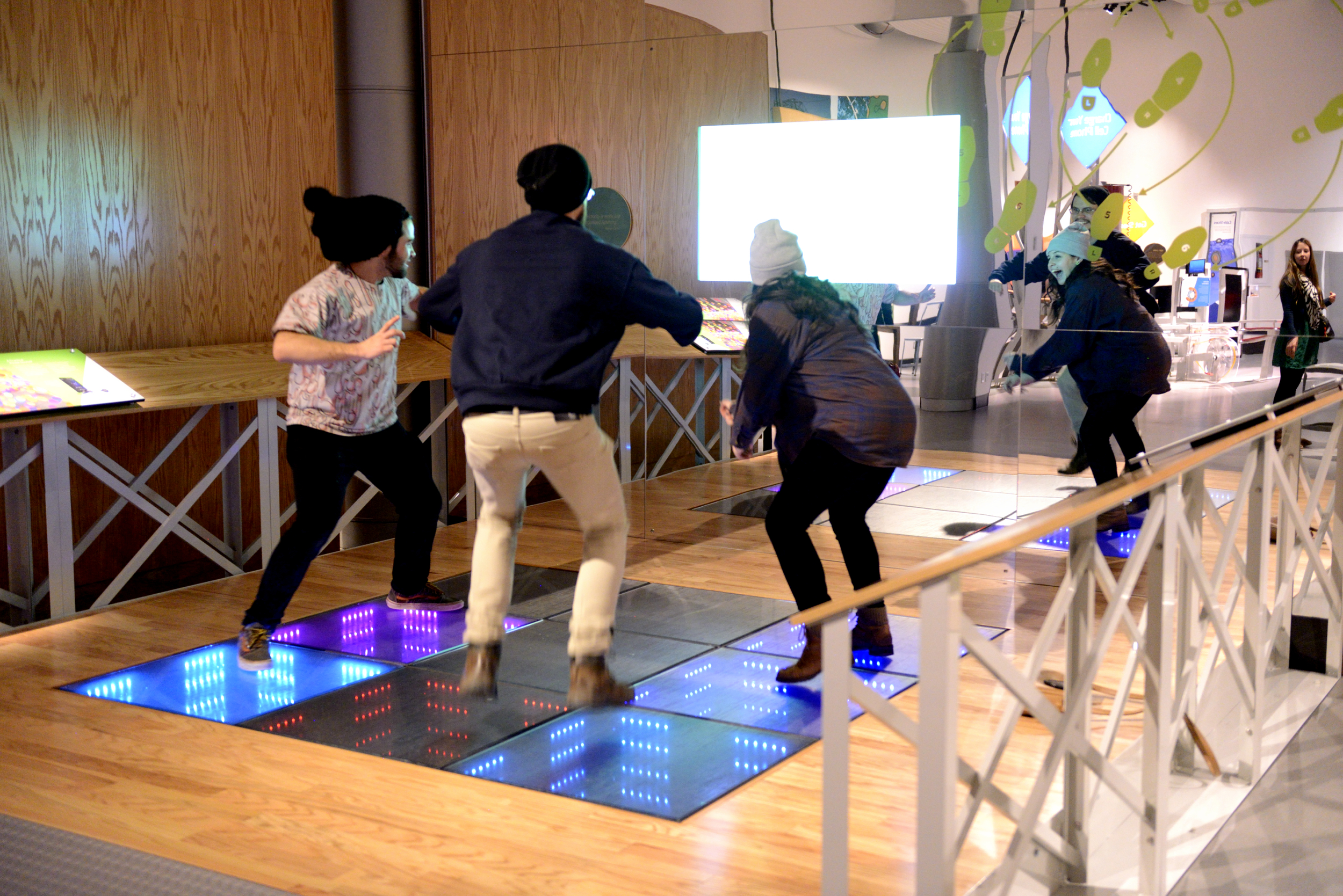 Generating electricity through dancing, Courtesy TELUS Spark
