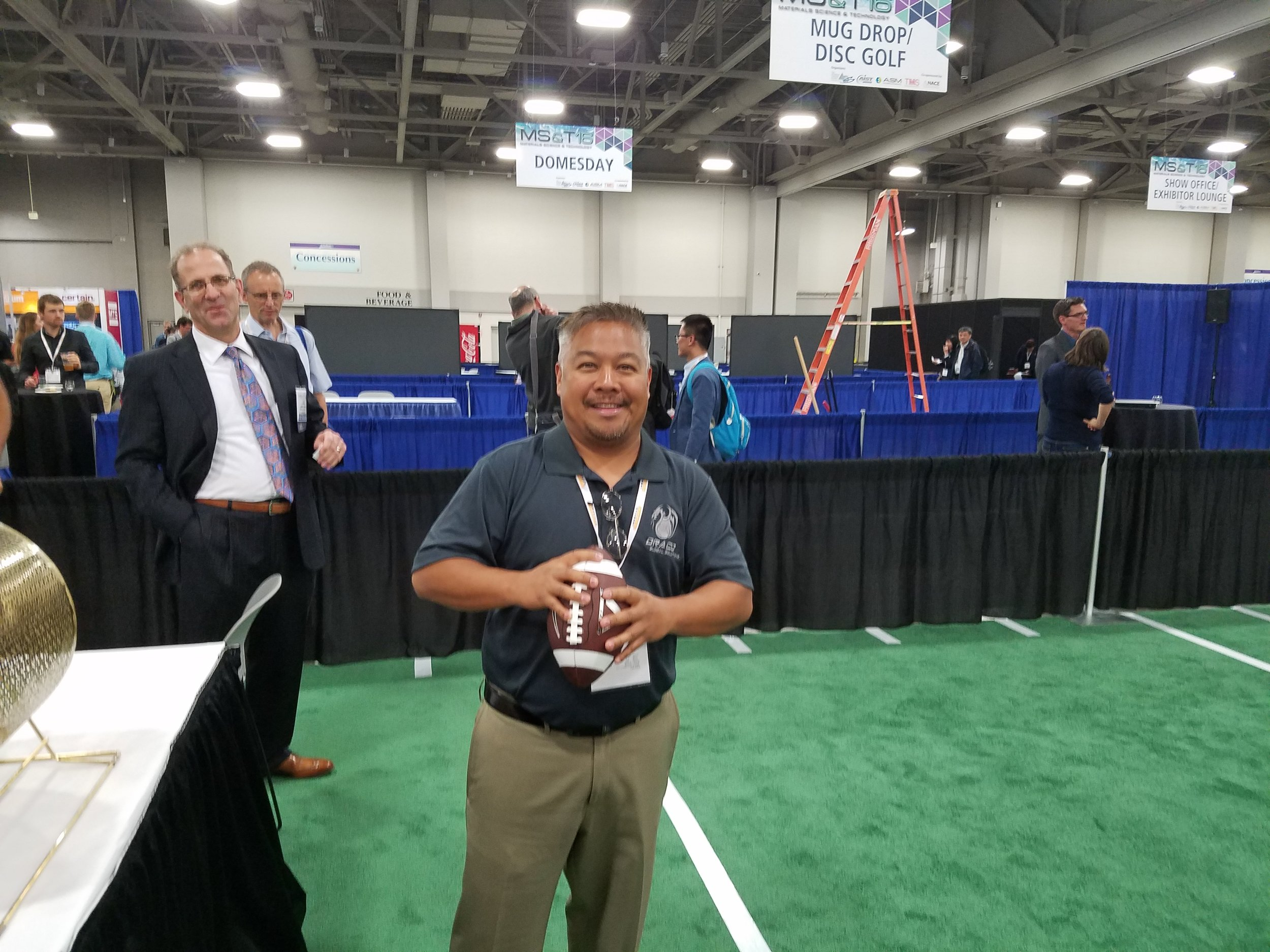 Greetings from Salt Lake City! Draco's Mark Fernandez preparing for a football toss here at the MST16.  http://www.matscitech.org/