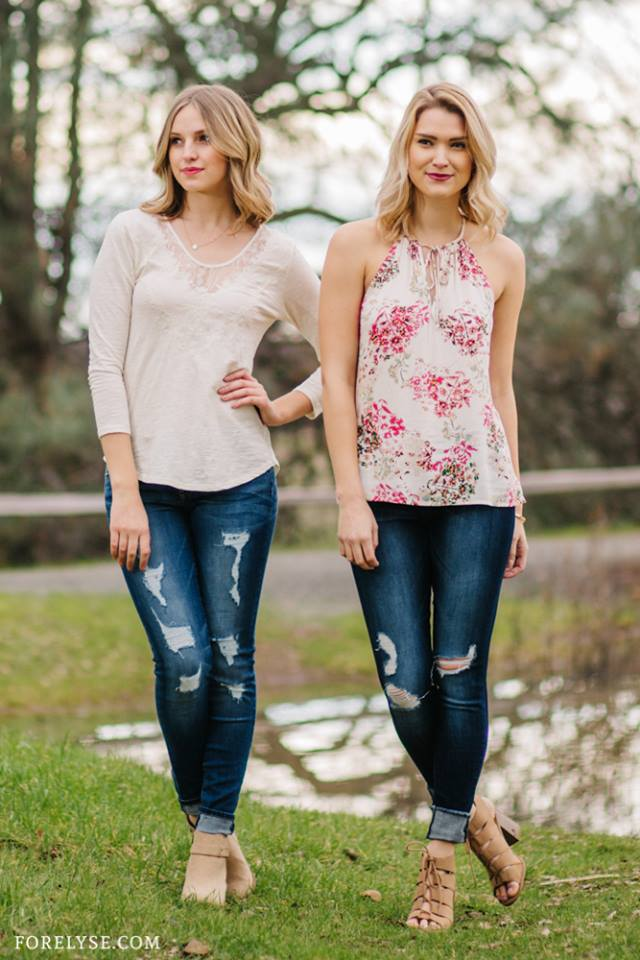 Midtown Embroidered Blouse  ($59.50)  Maisoue Skinny Jeans  ($66.99)  Fitting In Floral Top  ($38.99)  Flying Monkey Skinnies