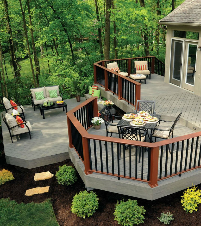 Silver Maple composite decking from TimberTech