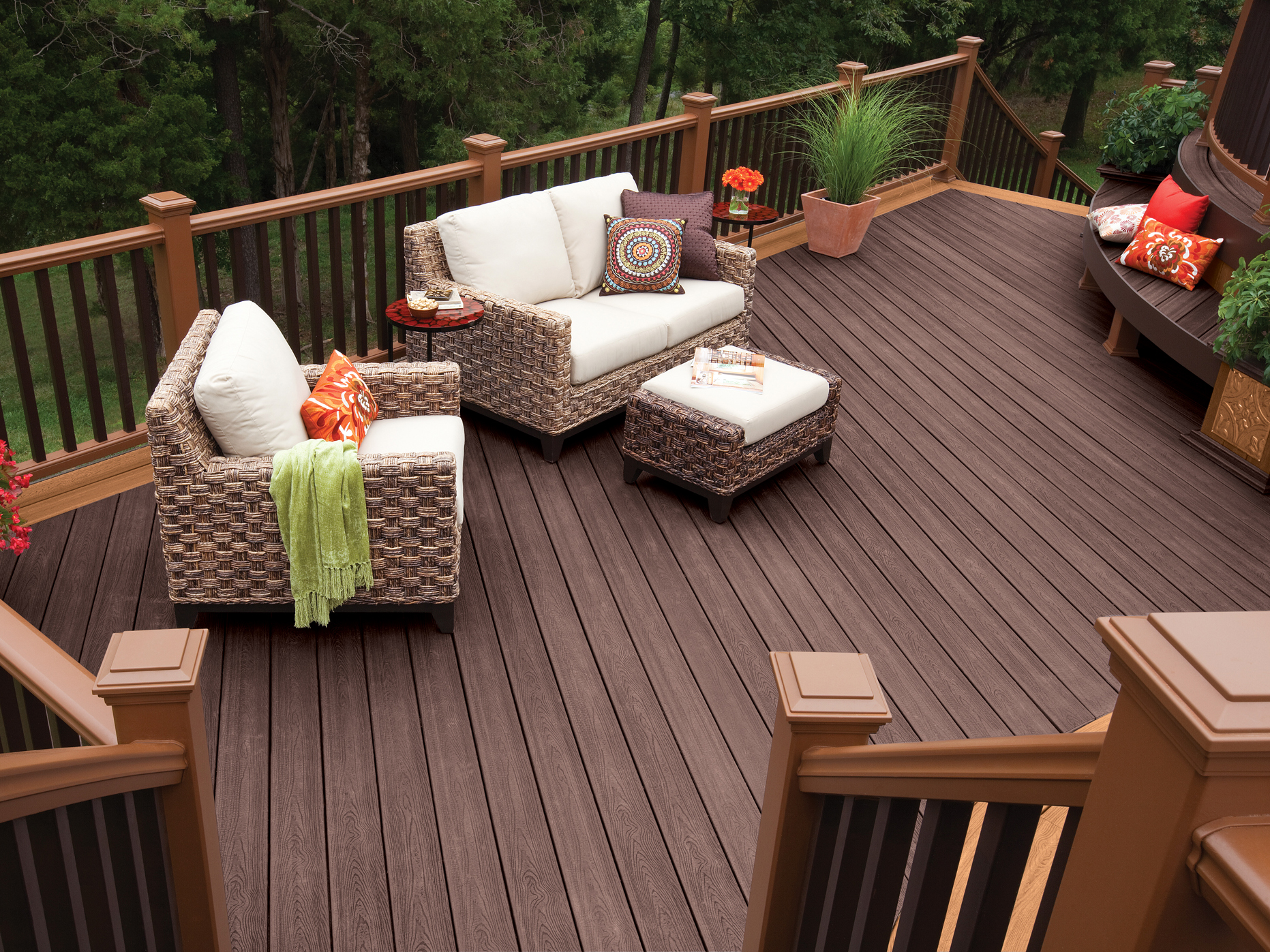 Composite decking products from Trex